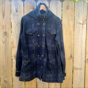 ⚡3 for $25 | Hurley | Plaid hooded Jacket Size XL